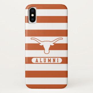 Universität des Schüler-gestreiften Musters Texas iPhone X Hülle