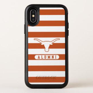 Universität des Schüler-gestreiften Musters Texas OtterBox Symmetry iPhone X Hülle
