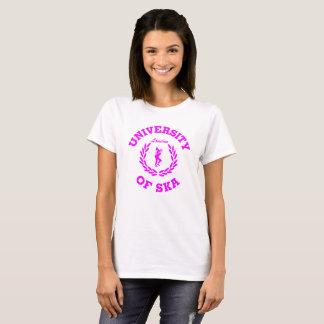 Universität Ska London des Damenrosas T-Shirt