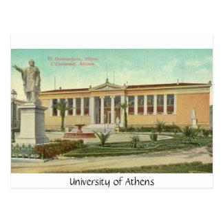 Universität von Athen, Postkarte