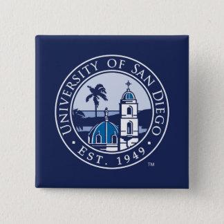 Universität von San Diego | Est. 1949 Quadratischer Button 5,1 Cm