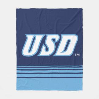 Universität von San Diego   USD Streifen Fleecedecke