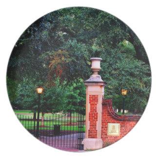 Universität von South- Carolinaplatte Melaminteller
