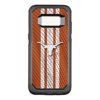 Universität von Texas | Longhorns-Jersey-Muster OtterBox Commuter Samsung Galaxy S8 Hülle