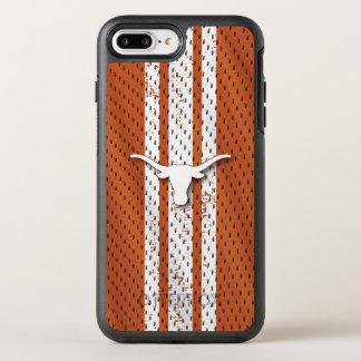 Universität von Texas | Longhorns-Jersey-Muster OtterBox Symmetry iPhone 8 Plus/7 Plus Hülle