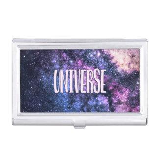 Universum-Foto Milchstraße im Nachthimmel Visitenkarten Dose