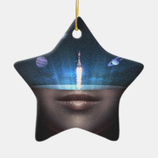 Universum im Verstand Keramik Stern-Ornament