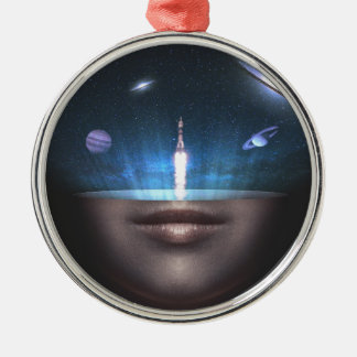 Universum im Verstand Silbernes Ornament