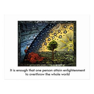 Universum, ist es genug, das eine Person… Postkarte