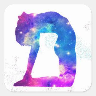 Universum-Yoga-Göttin-Reihe Quadratischer Aufkleber