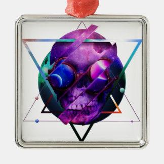 Universumschädelgalaxie Silbernes Ornament