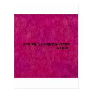 Unkept Wort ist ein übereinkommendes Ansehen Postkarte