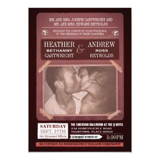 Unkonventionelle Ereignis-Plakat-Art-Hochzeit 12,7 X 17,8 Cm Einladungskarte