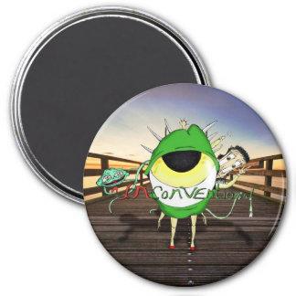 """""""Unkonventioneller"""" Logo-Magnet Runder Magnet 7,6 Cm"""