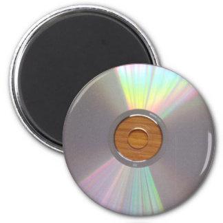 Unkonventioneller u. schrulliger CD Magnet Runder Magnet 5,1 Cm