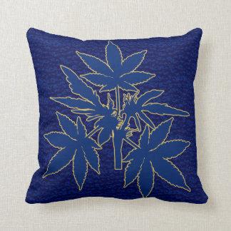 Unkraut-Baum Bubs Blau-Gold-Zeichnende Kissen