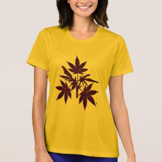 Unkraut-Baum-Knospen, die T-Shirt-2 Rot-Zeichnen T-Shirt