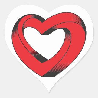 unmöglich verdrehtes Herz Herz-Aufkleber