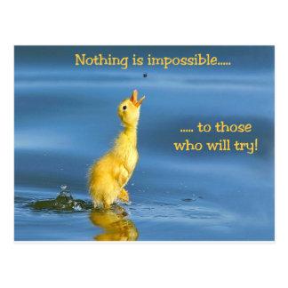 Unmögliche Ente Postkarte