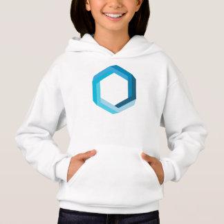 Unmögliche Geometrie: Blaues Hexagon Hoodie