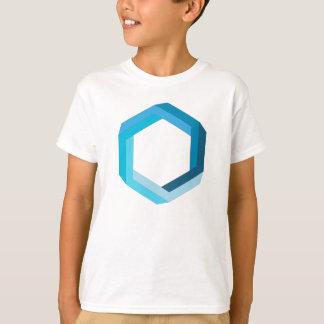 Unmögliche Geometrie: Blaues Hexagon T-Shirt