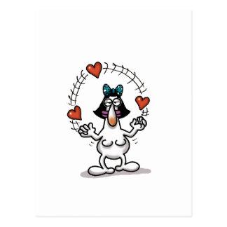 Unmögliche Liebe - Liebe-Jonglieren Postkarte