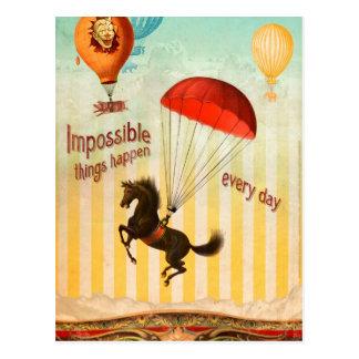 Unmögliche Sachen geschehen jeden Tag Postkarte