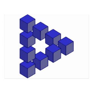 Unmögliches Treppenhaus der Quadrat-optischer Postkarte