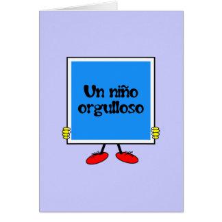 UNO Niño Orgulloso Grußkarte