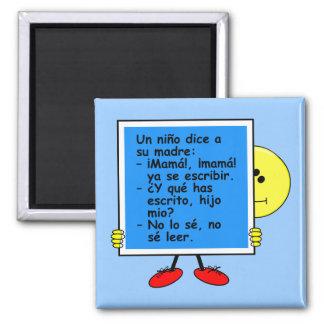 UNO Niño Orgulloso - Magnet Quadratischer Magnet