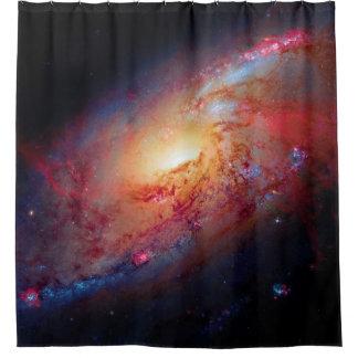 Unordentlicheres Weltraum-Foto der gewundenen Duschvorhang