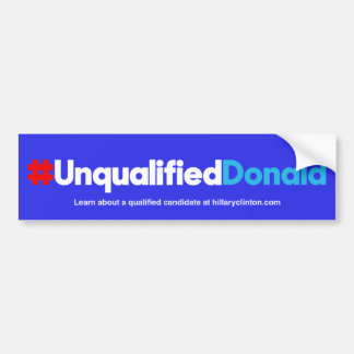 Unqualifizierter Donald/Blau Autoaufkleber