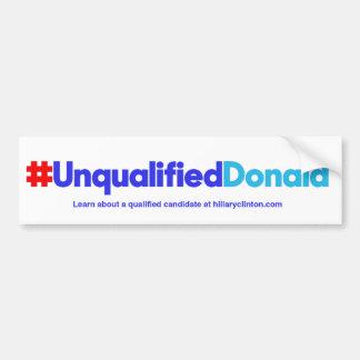 Unqualifizierter Donald/Weiß Autoaufkleber