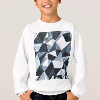 Unregelmäßiges Dreieck-Muster in Schwarzweiss Sweatshirt