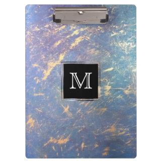 Unregelmäßiges Monogramm-Aquarell-Pastellgold | Klemmbrett