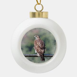 Unreifes Rot angebundener Falke Keramik Kugel-Ornament