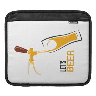 Uns gelassen Bier iPad Sleeve