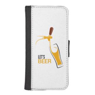 Uns gelassen Bier iPhone SE/5/5s Geldbeutel Hülle