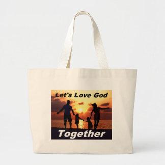 Uns gelassen Liebe-Gott-Tasche Jumbo Stoffbeutel