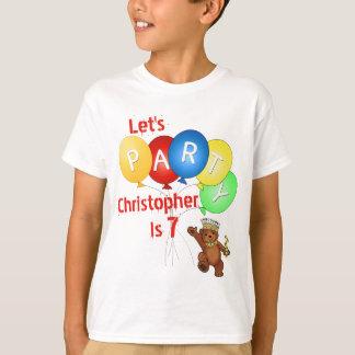 Uns gelassen Party-7. Geburtstags-Bärn-Prinz T-Shirt