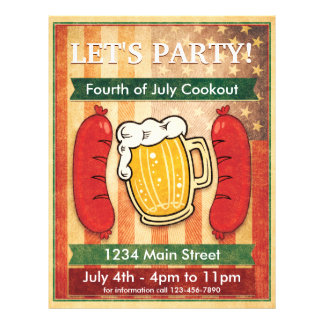 Uns gelassen Party! Grill-amerikanischer Flyer