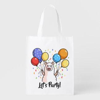 Uns gelassen Party-Lama Wiederverwendbare Einkaufstasche