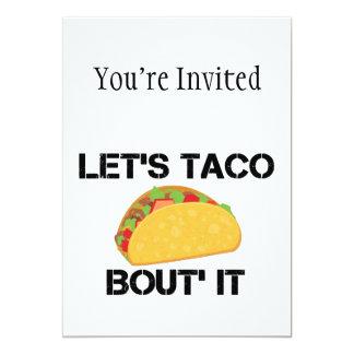 Uns gelassen Taco-Kampf es 12,7 X 17,8 Cm Einladungskarte