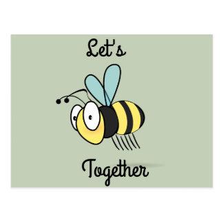 Uns zusammen gelassen Biene Postkarte
