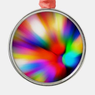 Unscharfe multi Farblichter Silbernes Ornament
