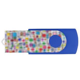 Unscharfe Quadrate USB Stick