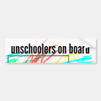 Unschoolers an Bord Autoaufkleber