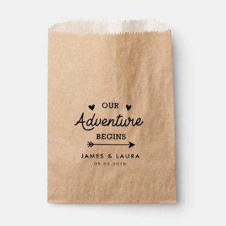 Unser Abenteuer fängt Gastgeschenk Hochzeitstasche Geschenktütchen