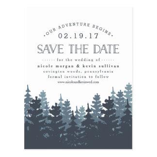 Unser Abenteuer fängt | Save the Date an Postkarte