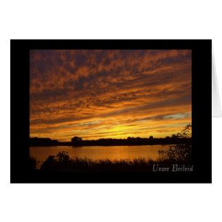 Unser Beileid - Trauerkarte - Sonnenuntergang Grußkarte